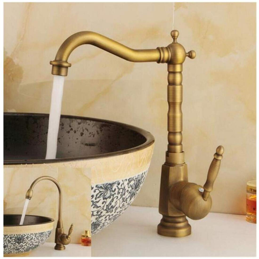 Kitchen Bath Basin Sink Bathroom Taps Sink Water Tap Single Handle Cold and Hot Water Ctzl2981