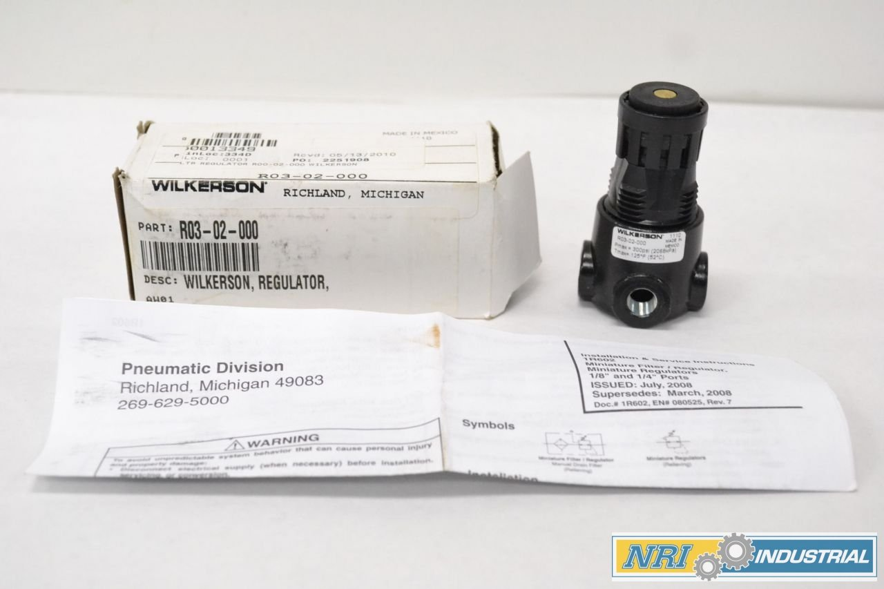 NEW WILKERSON R03-02-000 300PSI 1/4 IN PNEUMATIC REGULATOR B285923 by Wilkerson