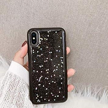 coque iphone xs max paillette noir
