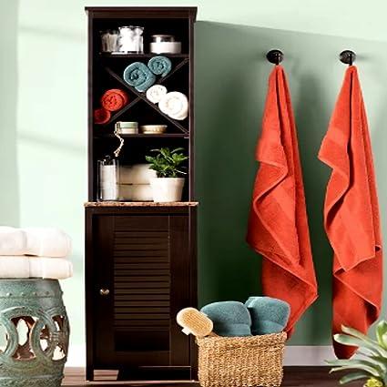 official photos d95eb a9e2a Amazon.com: Narrow Bathroom Storage Tower, Bathroom Linen ...