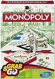 Hasbro Gaming Jogo Gaming Monopoly Grab & Go Verde/Verm