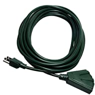 KMC 3 Outlet 16AWG Power Outdoor Extension Cord - 25 Feet (40314-1625A)