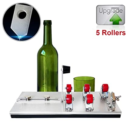 HUIJU Máquina De Corte De Botellas De Vidrio para Todo Tipo De Botellas Metal Upgrade Versión