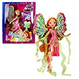 Witty Toys World of Winx - Dreamix Fairy Doll - Flora 28cm with Magical Robe