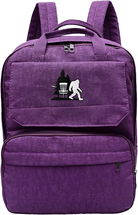 Women's Dayback Bigfoot Disc Golf Tree Oxford Business Travel Backpack College High School Bookbag Laptop Backpack