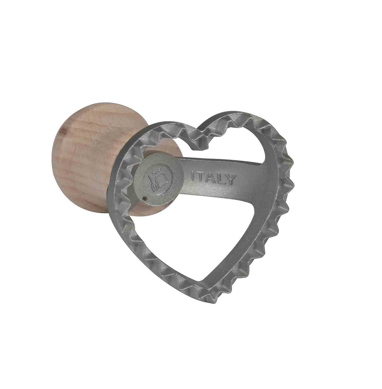 Ravioli/Dough Stamp Cutter - Heart Shape, Aluminium Cookie Stamp - 5.5 cm Eppicotispai