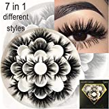 Mikiwi 7 pair lashes, 25mm mink lashes, 3D mink lashes, Mink eyelashes, Dramatic lashes, Mink Eyelashes, Mink lashes styip, fake mink eyelashes, luxury makeup (7pair-1)