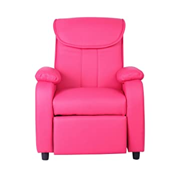 Awesome Xss Kids Deep Pink Reclining Armchair Comfortable Padded Sofa Furniture Headrest Unemploymentrelief Wooden Chair Designs For Living Room Unemploymentrelieforg