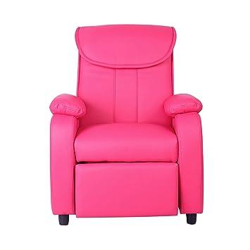 Super Xss Kids Deep Pink Reclining Armchair Comfortable Padded Sofa Furniture Headrest Andrewgaddart Wooden Chair Designs For Living Room Andrewgaddartcom