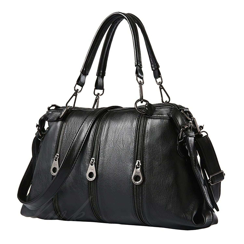 Womens Handbag,Womens Bag, Front Zippers Design PU Leather Shoulder Bag