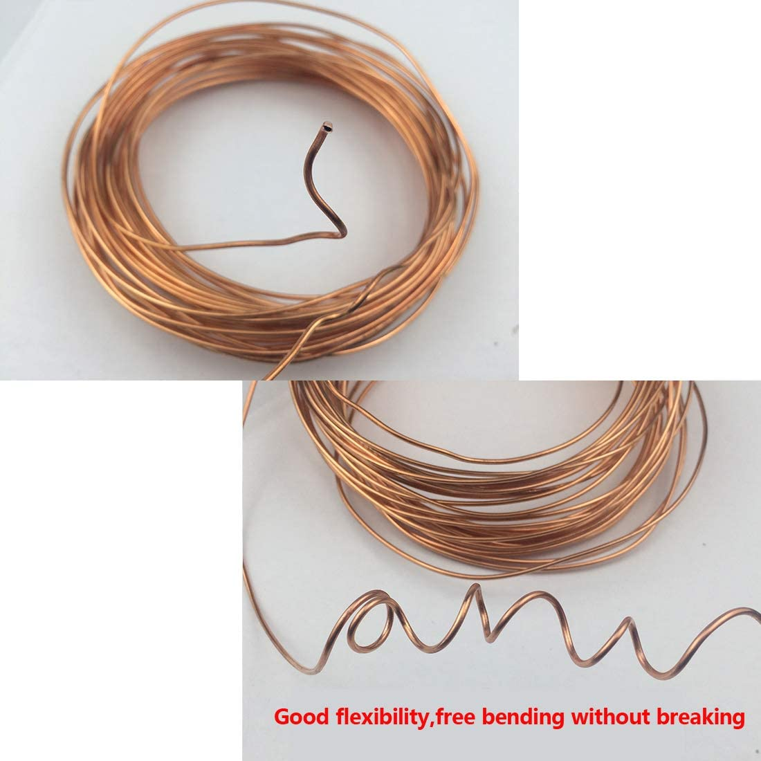 sourcing map Refrigeration Tubing 1//8 OD x 5//64 ID x 9.8 Ft Soft Coil Copper Tubing