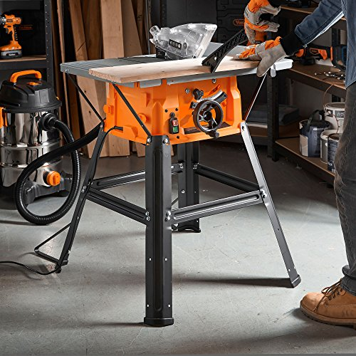 VonHaus Table Saw 8' (210mm) 5000 RPM 15000W - Circular Mitre Function - High Spec with Attachable Table Sides - Make Longitudinal & Angle Cuts with Carbide-Tipped Saw Blade