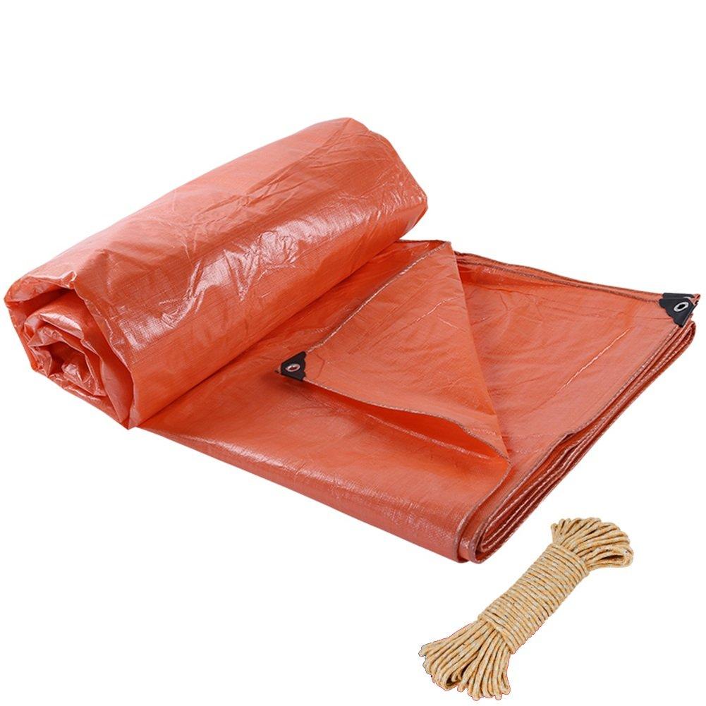 ZEMIN オーニング サンシェード ターポリン 防水 日焼け止め テント シート ルーフ 布 防塵の 織り ポリエステル、 オレンジ、 220G/6サイズあり (色 : Orange, サイズ さいず : 9X12M) 9X12M Orange B07DB63QJB