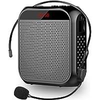 Amplificador de voz, Cintura Amplificador Voz Altavoz Recargable con Micrófono Personal para guía de Viaje guardería…