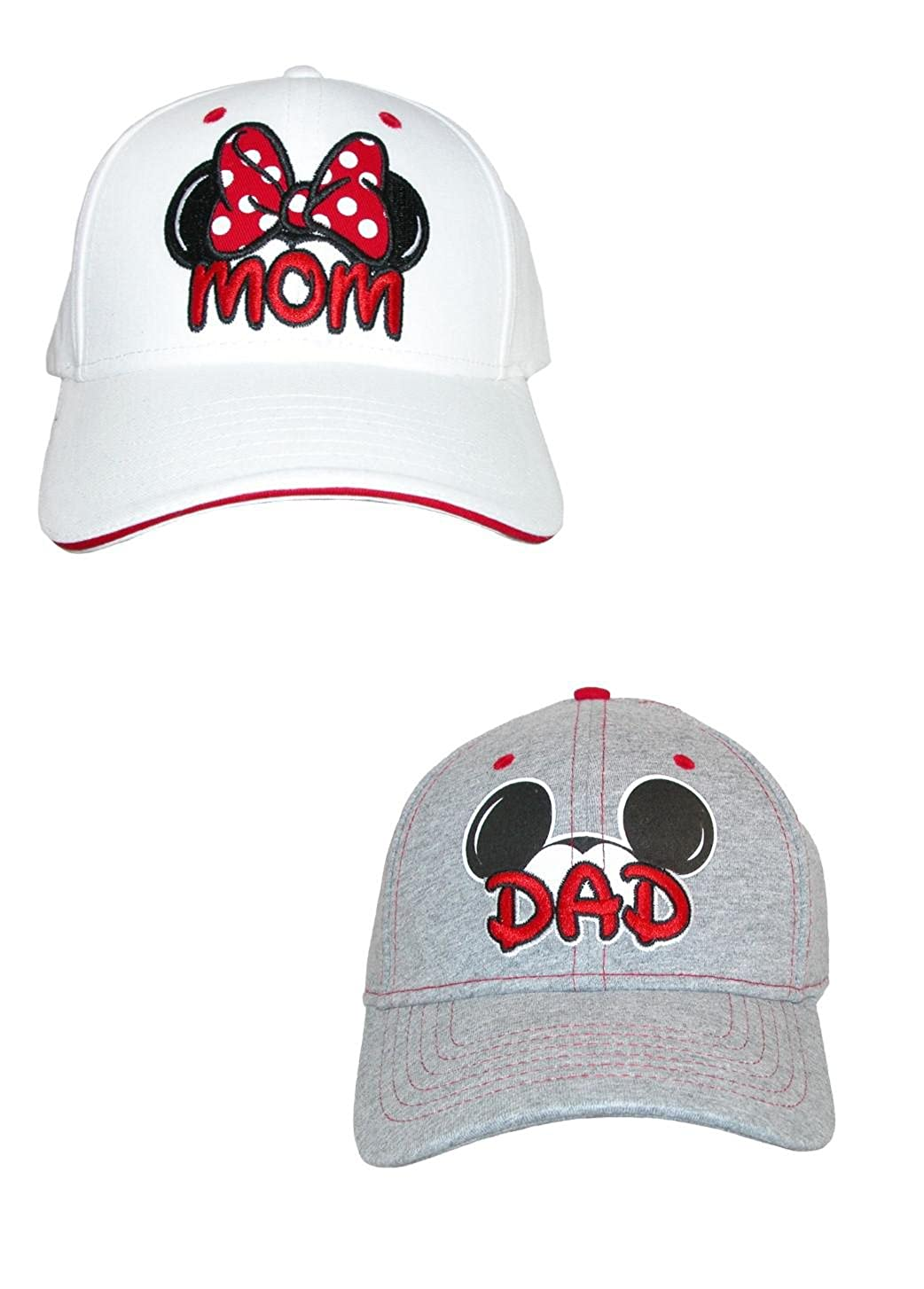 Disney Mom and Dad Fan Baseball Caps (Pack of 2) White/Grey