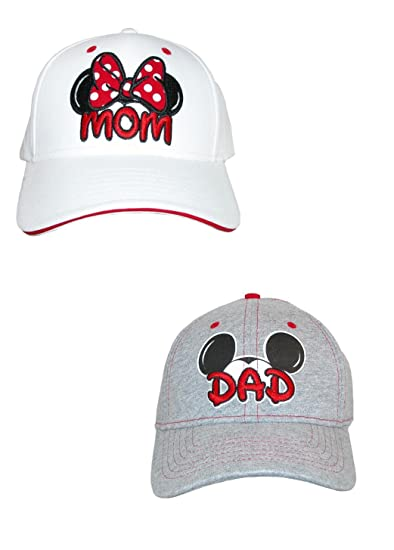 d3c2d502 Disney Mum and Dad Fan Baseball Caps (Pack Of 2), White/Grey: Amazon.co.uk:  Clothing