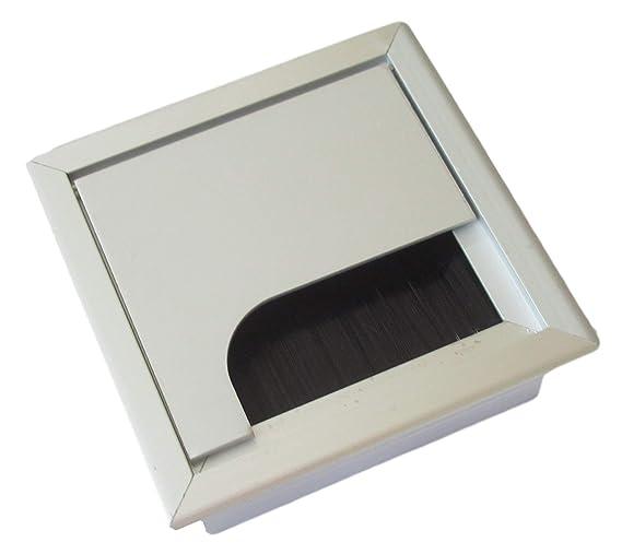 Guía de cables de 80 x 80 mm para escritorio/mesa - de aluminio ...