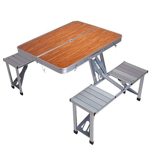 Tavoli Da Giardino In Alluminio Pieghevoli.Krfrqa Portatile Pieghevole In Alluminio Siamese Tavolo Da Esterno