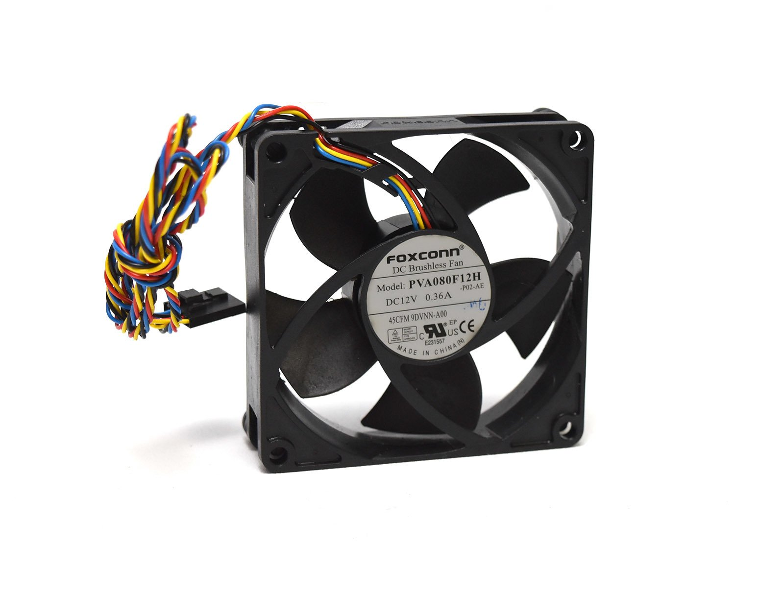 9DVNN Genuine OEM Rear Small Form Factor PC Computer Fan For Dell Optiplex 390 790 990 3010 7010 9010 4-Wire 5-Pin Power Connector Foxconn AVC Sunon Rev:A00 by Aquamoon Trading (Image #1)