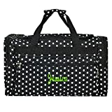Cheap Personalized Black and White Polka Dot Duffle Bag 22 Inch