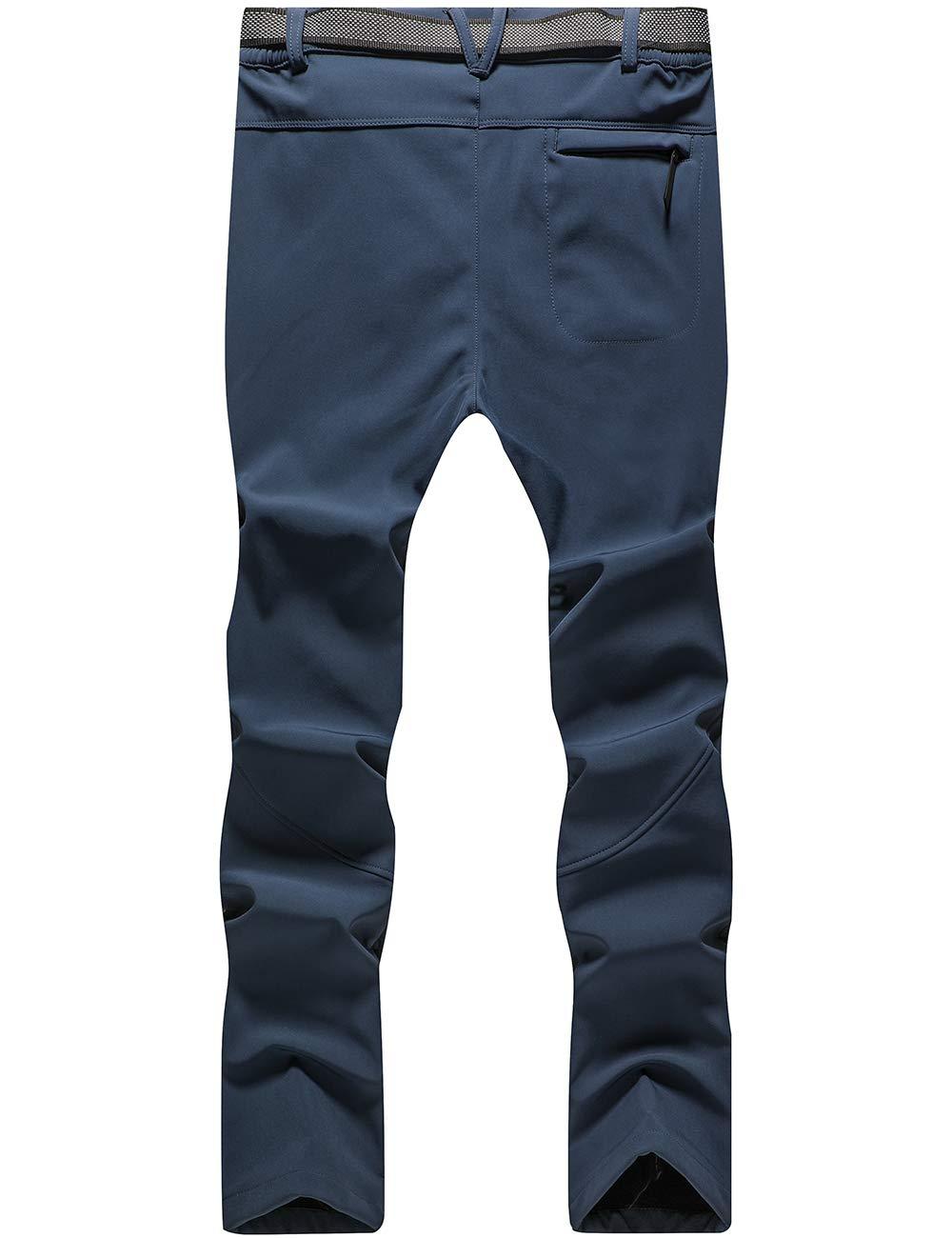 DENGBOSN Femme Pantalon Softshell Imperm/éable Pantalon Randonn/ée Thermique /Étanche Coupe-Vent Hiver Automne Pantalon de Montagne Escalade Ski
