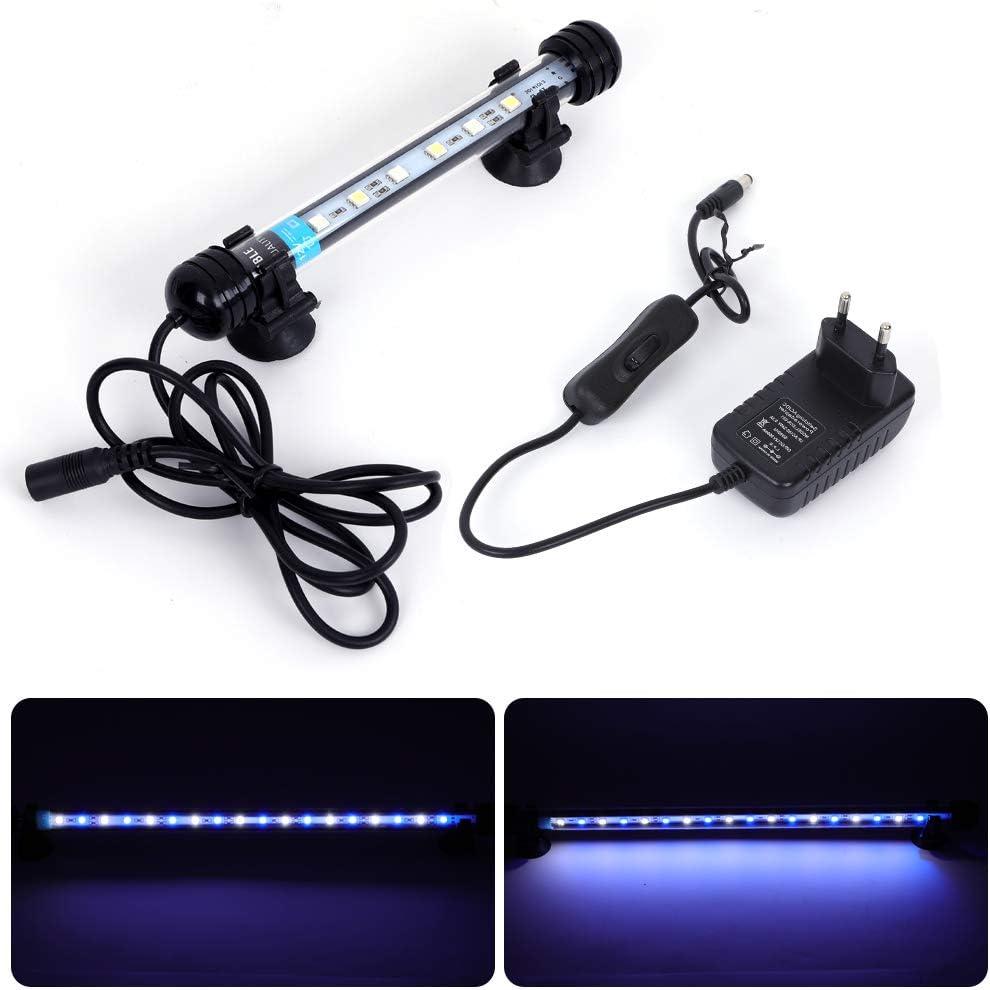 MLJ LED Aquarium Lighting Luce di Pesce Drago Illuminazione per Acquario Impermeabile (Deutschland Lagerhaus) (18cm, Bianco e Blu)