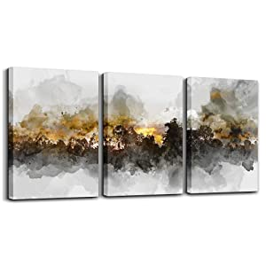 "Wall Art For Living room Black and white abstract painting bathroom Wall Decor for bedroom artwork Painting 16"" x 24"" 3 Pieces Canvas Prints Decor Modern Salon kitchen office Home decorations picture"