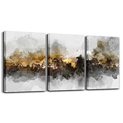 Amazoncom Wall Art For Living Room Black And White Abstract