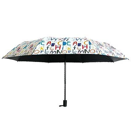 ZfgG Paraguas Ultraligero Creativo de la sombrilla, Paraguas Solar de Doble Uso de la protección