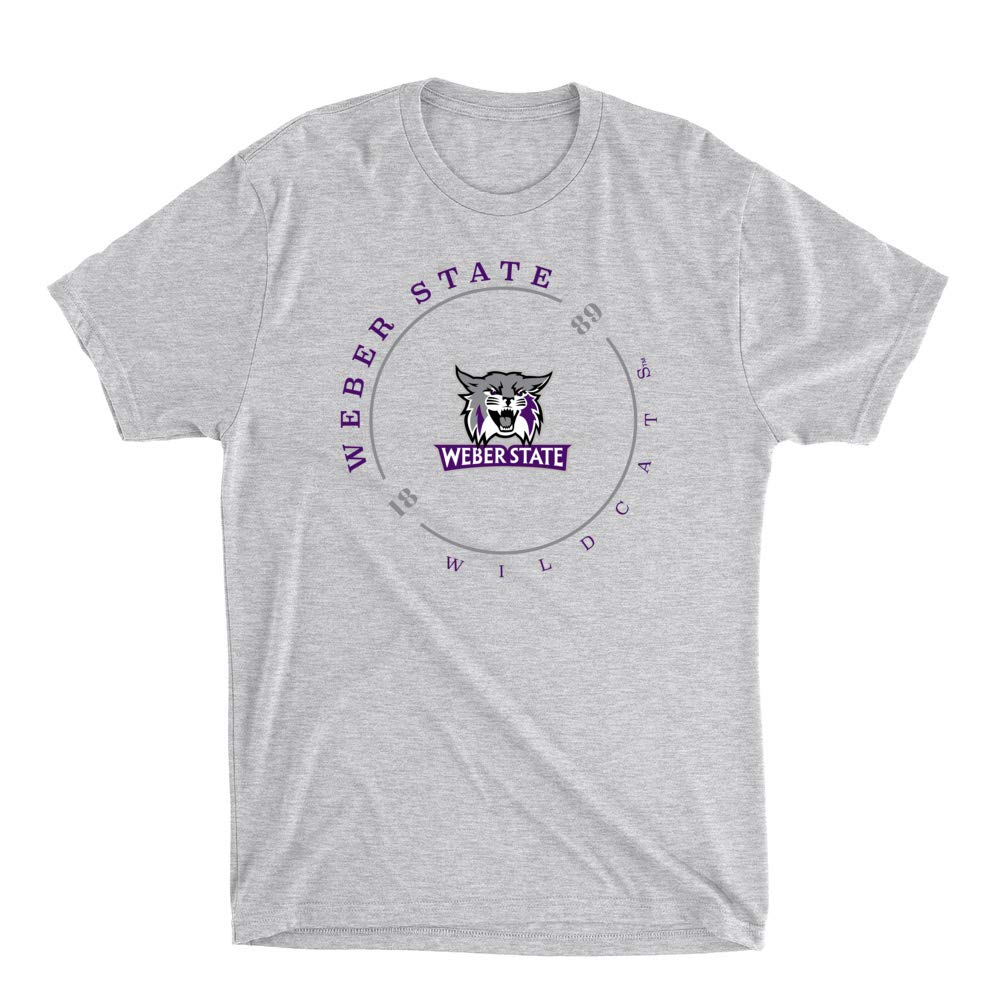 Official NCAA Weber State University Wildcats RYLWEB11 Mens//Womens Premium Triblend T-Shirt
