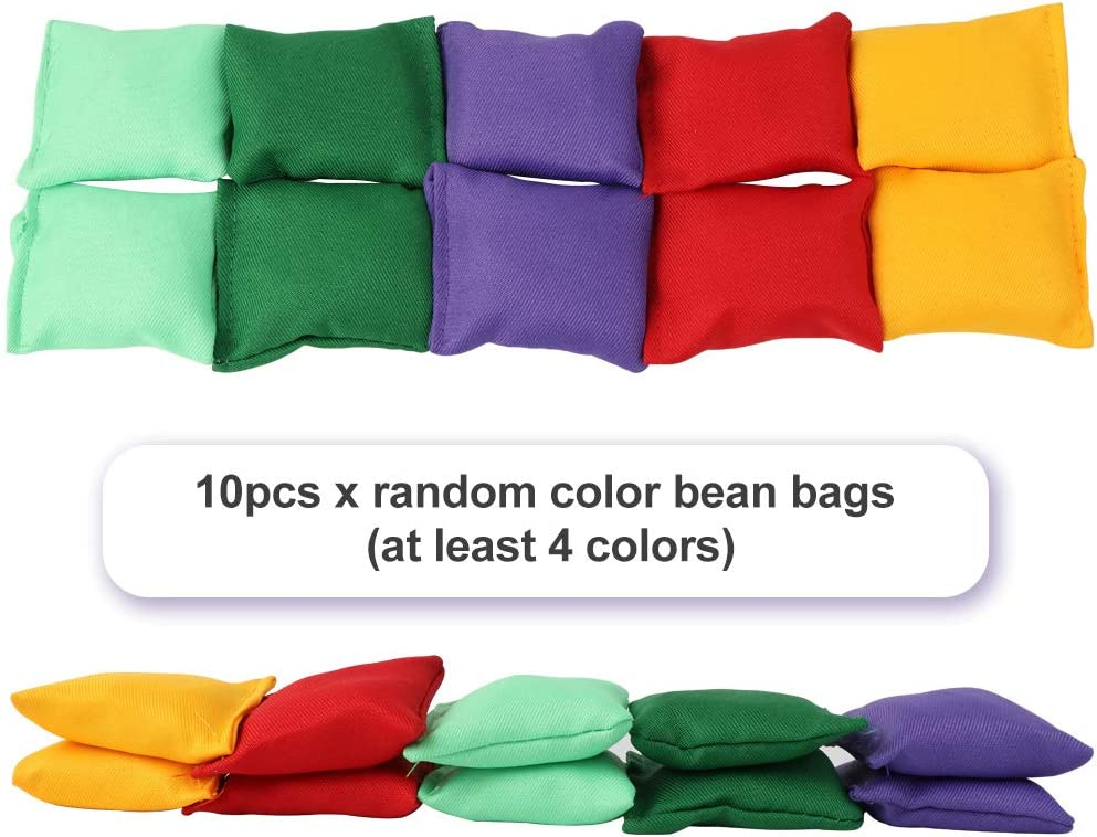 26 Piece Combo Set OurWarm 3 in 1 Bean Bags Toss Game Sets for Kids Ring Toss Game Carnival Garden Backyard Outdoor Games for Children Family Adults Outdoor Games Supplies