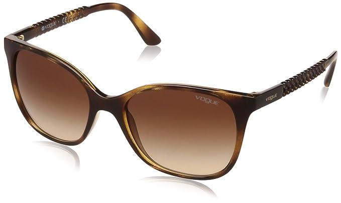 VOUGE Damen Sonnenbrille 0VO5032S W65613, Braun (Dark Havana/Browngradient), 54