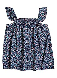 Roxy Big Girls\' are You Gonna Printed Strapless Top, Dress Blues Rumba Ditsy, 12