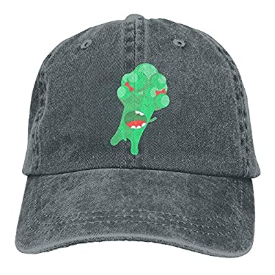 PMNADOU Cartoon Broccoli Denim Baseball Caps Hat Adjustable Cotton Sport Strap Cap for Men Women by PMNADOU