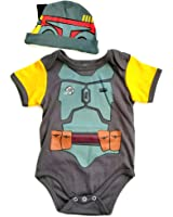 """Knitwits """"Baby Fett"""" Onesie and Hat Bundle Outfit"""