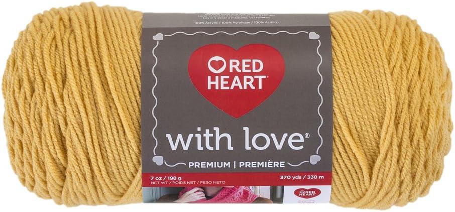 Red Heart E400.1207 with Love Yarn Cornsilk