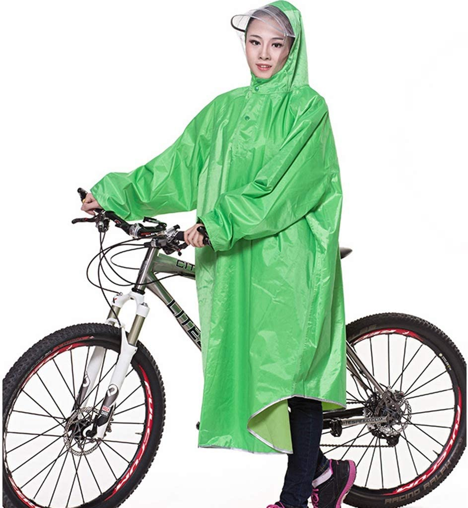 Cheng-chubasquero Poncho de Bicicleta Sombrero Grande Transparente ...
