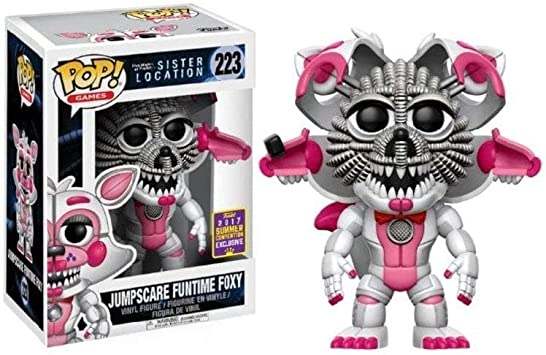 Amazon Com Funko Pop Games Fnaf Sister Location Jumpscare Funtime Foxy Collectible Figure Summer Convention Exclusive Toys Games