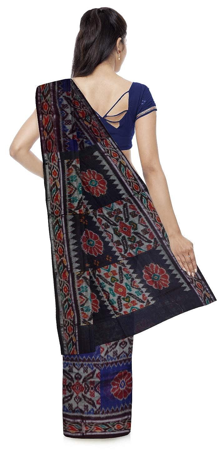 Ikat Tie & Dye Handloom Women's Silk Saree