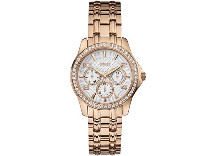 Guess W0403L3 - Reloj de cuarzo para mujer, con correa de acero inoxidable, color dorado: Amazon.es: Relojes