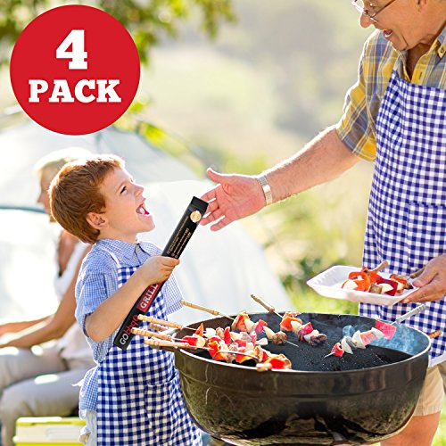 GObbq BBQ Grill Mat - 4-Pack 18 x 13 inch, 0.4mm Thick Most Durable, Non-Stick BBQ Grilling Mats for Gas, Charcoal, Electric Grill by GObbq