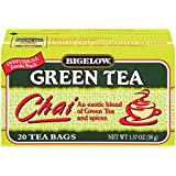Bigelow Green Tea Chai 20-Count Boxes (Pack of 6)