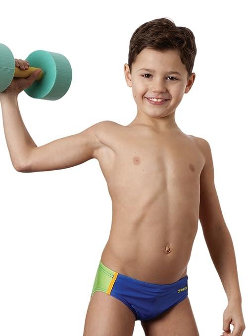 491a9f2d755cb4 Okeo -Wink- Costume Slip Nuoto per Bambino: Amazon.it: Sport e tempo ...