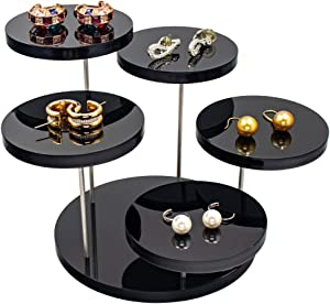 CSILife Acrylic Products Display Stands | Plexiglass Displaying Risers | Display Shelves for Mini Figurines - Black