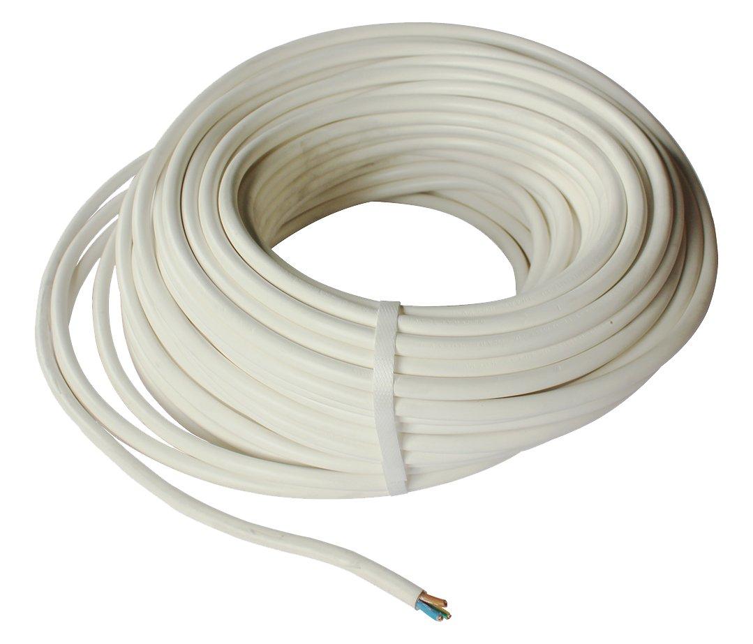 gefom 5286 Cable H05VV-F, 3 G1, 5 m), color blanco 3G1 5m)