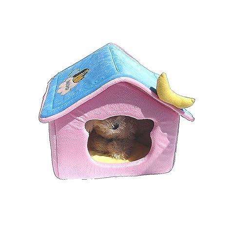 YQQ Casa De Mascotas Casa Plegable Nido De Gato Caseta De Perro VIP Perreras Pequeñas Y