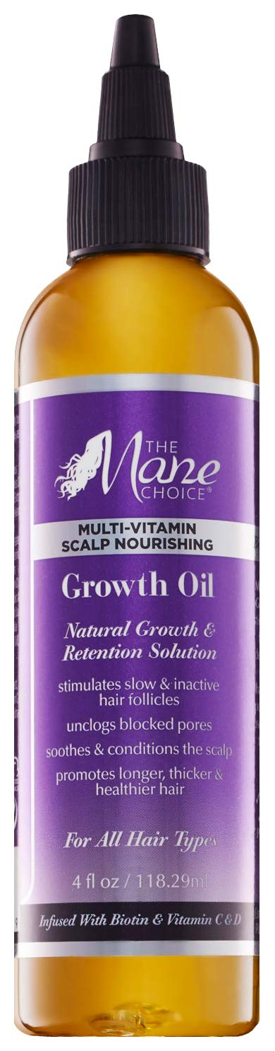THE MANE CHOICE Hair Growth Oil ( 4 Ounces / 118 Milliliters ) - Multi-Vitamin Scalp Nourishing Growth Oil Formulated to Stimulate Hair Growth From the Roots by The Mane Choice