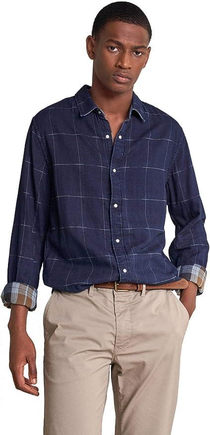 Salsa Camisa Slim fit de Cuadros Reversible: Amazon.es: Ropa ...