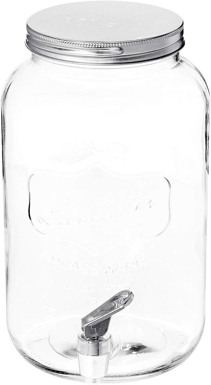 Circleware Mini Lancaster Yorkshire Mason Jar Bebidas Dispensador de bebida de cristal con tapa de metal, 3,25 litros: Amazon.es: Hogar