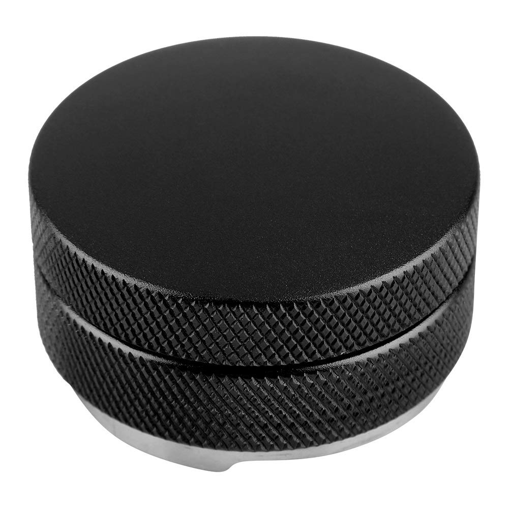 3 Leaf Clover Base Palm Coffee Tamper Color : Black Delaman Stainless Steel Coffee Distributor//Leveler Tool 58mm with Three Angled Slopes for Espresso Coffee Grounds